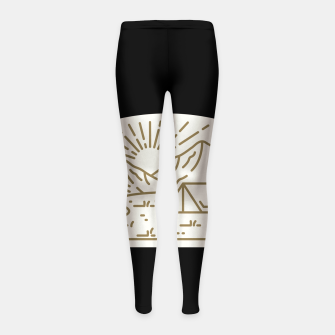 Miniatur Sunrise Camp Girl's leggings, Live Heroes