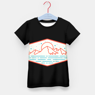 Miniatur Mountain and Sea Kid's t-shirt, Live Heroes