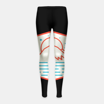 Miniatur Mountain and Sea Girl's leggings, Live Heroes