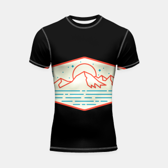 Miniature de image de Mountain and Sea Shortsleeve rashguard, Live Heroes