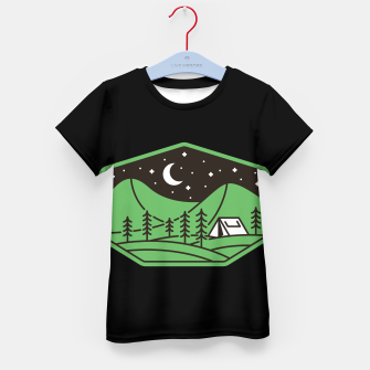 Miniatur Green Camp Kid's t-shirt, Live Heroes
