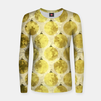 Thumbnail image of Gold Christmas Women sweater, Live Heroes