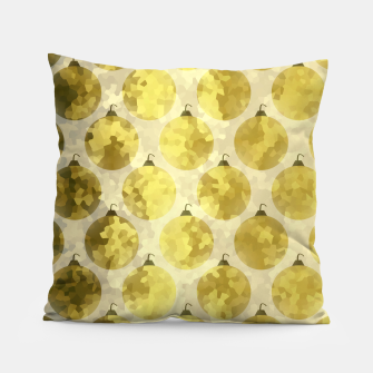 Miniatur Gold Christmas Pillow, Live Heroes