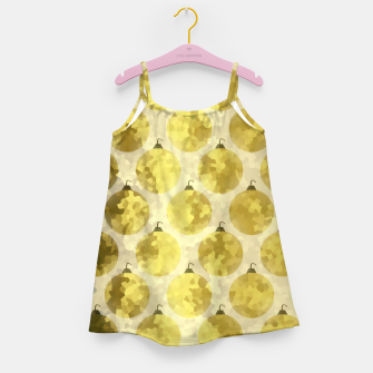 Miniatur Gold Christmas Girl's dress, Live Heroes