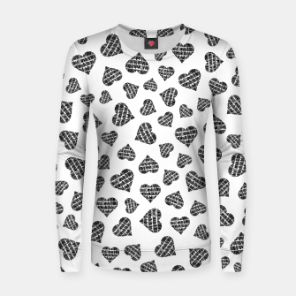 Thumbnail image of Book Lover Heart Pattern Women sweater, Live Heroes