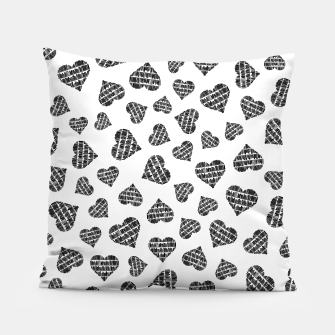 Miniatur Book Lover Heart Pattern Pillow, Live Heroes