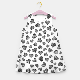 Thumbnail image of Book Lover Heart Pattern Girl's summer dress, Live Heroes