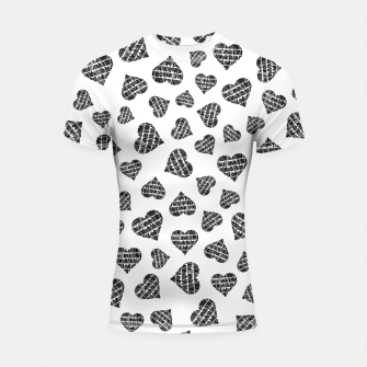 Thumbnail image of Book Lover Heart Pattern Shortsleeve rashguard, Live Heroes