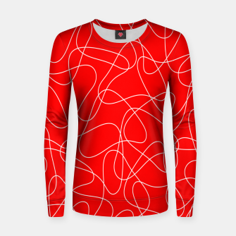 Thumbnail image of Abstract pattern - red and white. Women sweater, Live Heroes
