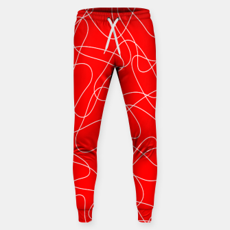 Thumbnail image of Abstract pattern - red and white. Sweatpants, Live Heroes