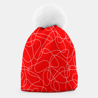 Thumbnail image of Abstract pattern - red and white. Beanie, Live Heroes