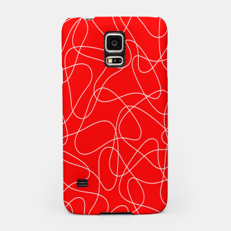 Thumbnail image of Abstract pattern - red and white. Samsung Case, Live Heroes
