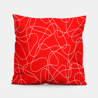 Thumbnail image of Abstract pattern - red and white. Pillow, Live Heroes