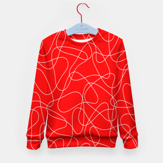 Thumbnail image of Abstract pattern - red and white. Kid's sweater, Live Heroes