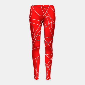 Thumbnail image of Abstract pattern - red and white. Girl's leggings, Live Heroes