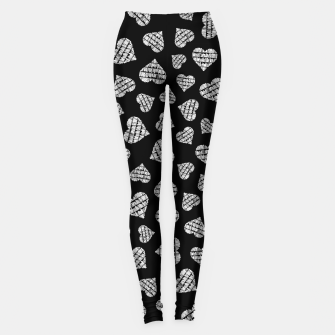 Thumbnail image of Book Lover Heart Pattern II Leggings, Live Heroes