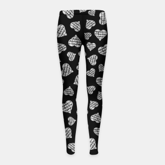 Thumbnail image of Book Lover Heart Pattern II Girl's leggings, Live Heroes