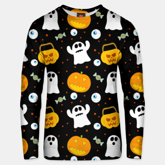 Thumbnail image of Halloween Pumpkin And Ghost Pattern Trick Or Treat Candy Unisex sweater, Live Heroes