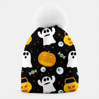 Thumbnail image of Halloween Pumpkin And Ghost Pattern Trick Or Treat Candy Beanie, Live Heroes