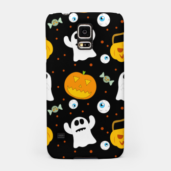 Thumbnail image of Halloween Pumpkin And Ghost Pattern Trick Or Treat Candy Samsung Case, Live Heroes
