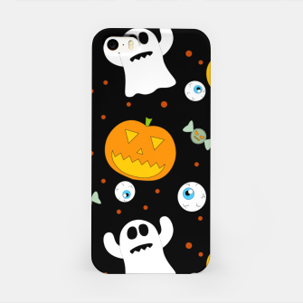 Thumbnail image of Halloween Pumpkin And Ghost Pattern Trick Or Treat Candy iPhone Case, Live Heroes