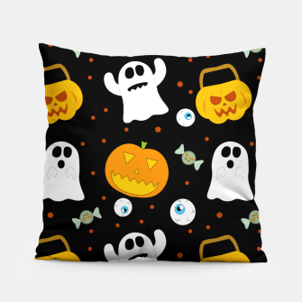 Thumbnail image of Halloween Pumpkin And Ghost Pattern Trick Or Treat Candy Pillow, Live Heroes