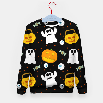 Thumbnail image of Halloween Pumpkin And Ghost Pattern Trick Or Treat Candy Kid's sweater, Live Heroes