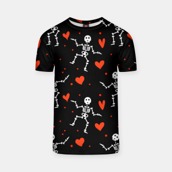 Miniaturka Dancing Skeleton Red Hearts Love Funny Halloween Gifts T-shirt, Live Heroes