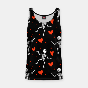 Thumbnail image of Dancing Skeleton Red Hearts Love Funny Halloween Gifts Tank Top, Live Heroes