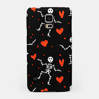Miniatur Dancing Skeleton Red Hearts Love Funny Halloween Gifts Samsung Case, Live Heroes