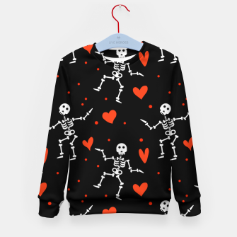 Thumbnail image of Dancing Skeleton Red Hearts Love Funny Halloween Gifts Kid's sweater, Live Heroes