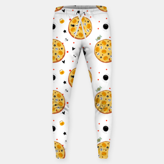 Miniatur Funny Halloween Pizza Food Lover Gifts Scary Ingredients Sweatpants, Live Heroes