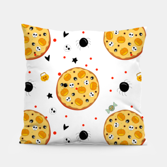Miniaturka Funny Halloween Pizza Food Lover Gifts Scary Ingredients Pillow, Live Heroes