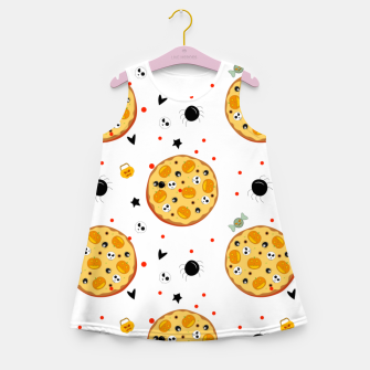 Miniaturka Funny Halloween Pizza Food Lover Gifts Scary Ingredients Girl's summer dress, Live Heroes