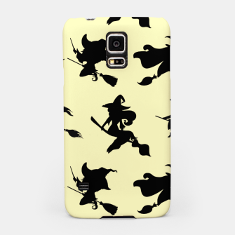Miniatur Black Flying Witches Broom Silhouette Halloween Gifts Samsung Case, Live Heroes