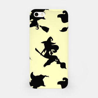 Miniatur Black Flying Witches Broom Silhouette Halloween Gifts iPhone Case, Live Heroes