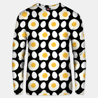 Miniatur Fried Egg Pattern Breakfast Lovers Gift Daisy Flower Unisex sweater, Live Heroes