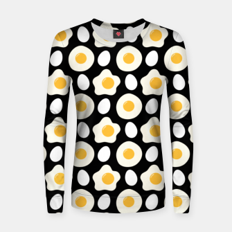 Thumbnail image of Fried Egg Pattern Breakfast Lovers Gift Daisy Flower Women sweater, Live Heroes