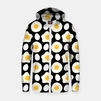 Miniatur Fried Egg Pattern Breakfast Lovers Gift Daisy Flower Zip up hoodie, Live Heroes