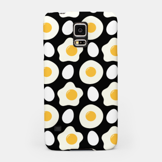 Miniatur Fried Egg Pattern Breakfast Lovers Gift Daisy Flower Samsung Case, Live Heroes