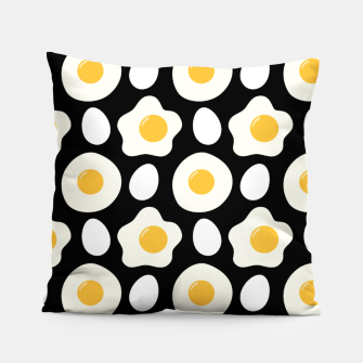 Miniatur Fried Egg Pattern Breakfast Lovers Gift Daisy Flower Pillow, Live Heroes