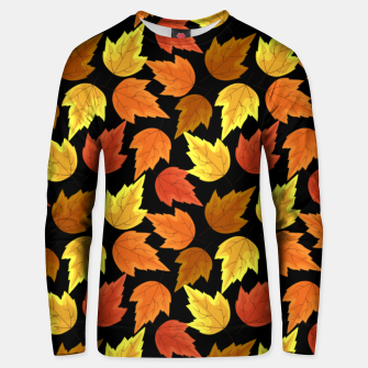 Miniatur Fall Leaves Autumn Season Thanksgiving Halloween Gifts Unisex sweater, Live Heroes