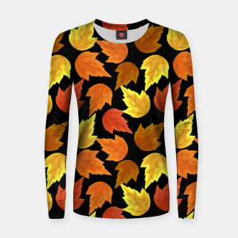 Thumbnail image of Fall Leaves Autumn Season Thanksgiving Halloween Gifts Women sweater, Live Heroes