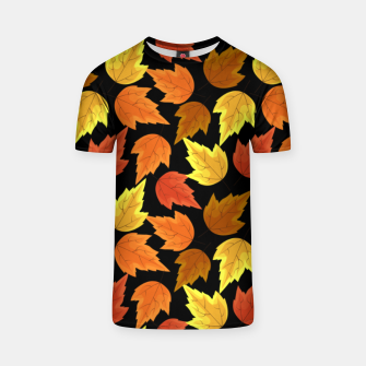 Miniatur Fall Leaves Autumn Season Thanksgiving Halloween Gifts T-shirt, Live Heroes