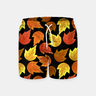 Miniatur Fall Leaves Autumn Season Thanksgiving Halloween Gifts Swim Shorts, Live Heroes