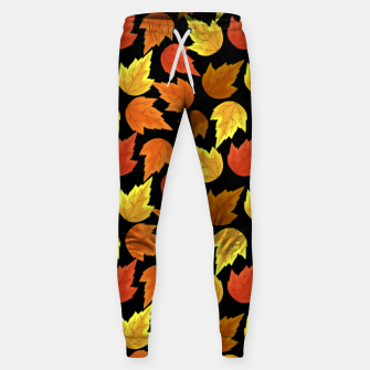 Miniatur Fall Leaves Autumn Season Thanksgiving Halloween Gifts Sweatpants, Live Heroes