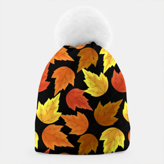 Miniatur Fall Leaves Autumn Season Thanksgiving Halloween Gifts Beanie, Live Heroes