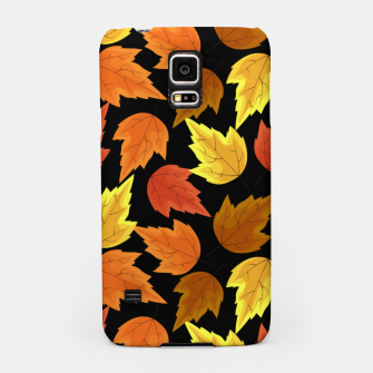 Miniatur Fall Leaves Autumn Season Thanksgiving Halloween Gifts Samsung Case, Live Heroes