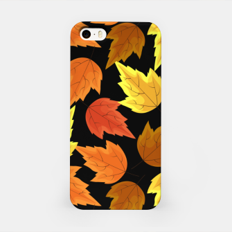 Miniatur Fall Leaves Autumn Season Thanksgiving Halloween Gifts iPhone Case, Live Heroes