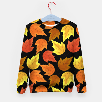 Miniatur Fall Leaves Autumn Season Thanksgiving Halloween Gifts Kid's sweater, Live Heroes